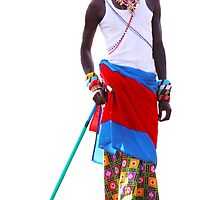 Massai warrior by Atanas Bozhikov Nasko