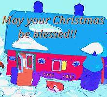 Barn at Christmastime by ♥⊱ B. Randi Bailey
