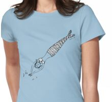 Diving Mermaid Womens Fitted T-Shirt