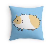 Beige and White Rough Haired Guinea-pig Throw Pillow
