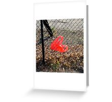 Heart on a Fence Greeting Card