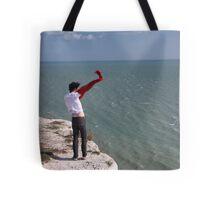 Windy Cliffs Tote Bag