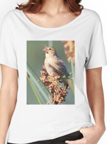 Red Bishop Female having Lunch Women's Relaxed Fit T-Shirt