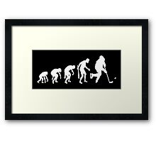 Evolution of a Hockey Player Framed Print