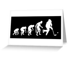 Evolution of a Hockey Player Greeting Card
