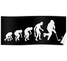 Evolution of a Hockey Player Poster