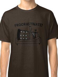 Procrastinate Robot Classic T-Shirt