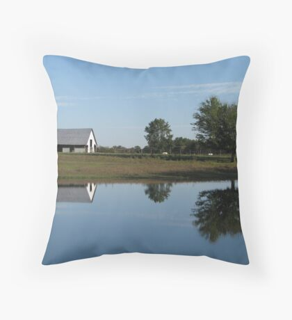 Countryside Reflections Throw Pillow