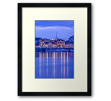 The lights of evening Podol on the Dnieper Framed Print