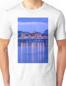 The lights of evening Podol on the Dnieper Unisex T-Shirt