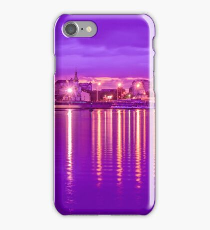 Reflection lights waterfront iPhone Case/Skin