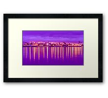 Reflection lights waterfront Framed Print