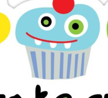 Cupcake Crazy - beige Sticker