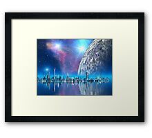 Cobalt Island Cities of the Future Framed Print