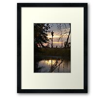 GOLD SPILL Framed Print