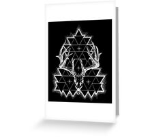 Decay (White Print) Greeting Card