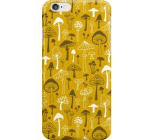 Mushrooms in Yellow iPhone Case/Skin