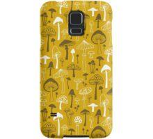 Mushrooms in Yellow Samsung Galaxy Case/Skin