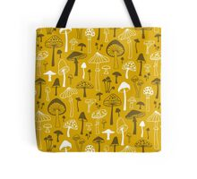 Mushrooms in Yellow Tote Bag