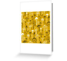 Mushrooms in Yellow Greeting Card