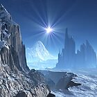 Lone Star over Alien Winter World by SpinningAngel