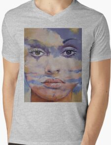 Mona Lisa Mens V-Neck T-Shirt