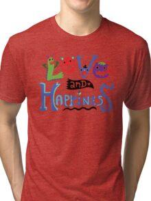 Love & Happiness  - beige Tri-blend T-Shirt