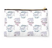 Sharks Are Friends - Repeating Pattern Studio Pouch