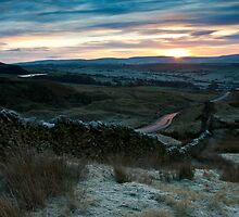 Frosty sunrise on Pendle Hill by Shaun Whiteman