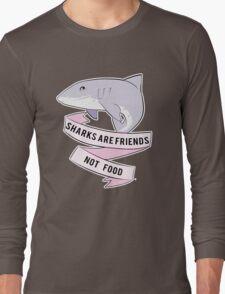 Sharks Are Friends - Not Food Long Sleeve T-Shirt