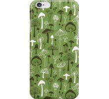 Mushrooms in Green iPhone Case/Skin