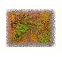 """ Soap opera ""   autumn  -  landscape  ( Pastiche - Daub?!?) Perheps !. by  Brown Sugar . Views (61) Thanks !!! Art Print"