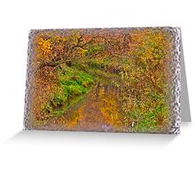 """ Soap opera ""   autumn  -  landscape  ( Pastiche - Daub?!?) Perheps !. by  Brown Sugar . Views (61) Thanks !!! Greeting Card"