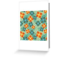 Squared Flowers Greeting Card