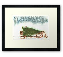 Bringing Home theTree  Framed Print
