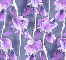 Simple Iris Pattern in Pastel Purple by micklyn