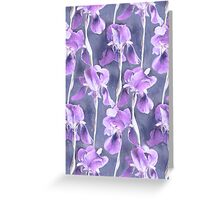 Simple Iris Pattern in Pastel Purple Greeting Card