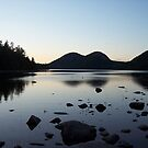 Sunset over the Bubbles and Jordan Pond by Bryan Gonyar