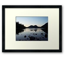 Sunset over the Bubbles and Jordan Pond Framed Print