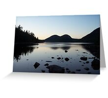 Sunset over the Bubbles and Jordan Pond Greeting Card