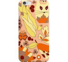 cartoon yellow cat iPhone Case/Skin