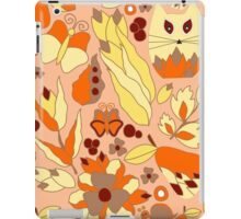 cartoon yellow cat iPad Case/Skin