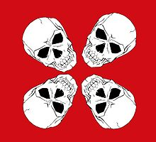 Skull 4 Red by LawrenceA
