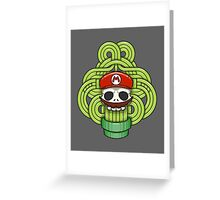 Mario Skull Greeting Card