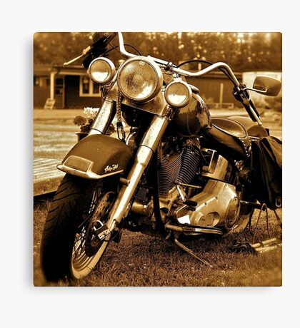 Harley  Davidson  . Views (217) , Favs (4). Thank you Easy Riders !!!! Canvas Print