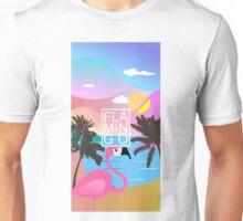 Flamingo Summer night Unisex T-Shirt