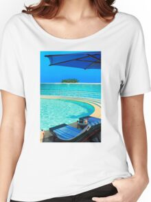 The Maldives - romantic atoll island paradise with luxury resort  Women's Relaxed Fit T-Shirt