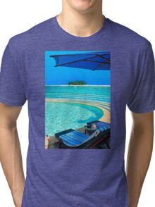 The Maldives - romantic atoll island paradise with luxury resort  Tri-blend T-Shirt