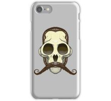 Gentleman Monkey Skull iPhone Case/Skin