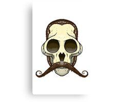 Gentleman Monkey Skull Canvas Print